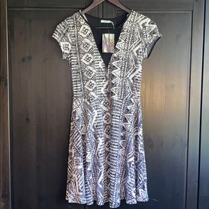NWT Urban Outfitters Skater Dress with Mesh Panels